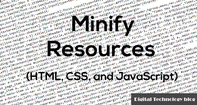 Minify JS and CSS records